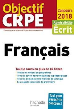 Livres Couvertures de Objectif CRPE En Fiches Français - 2018
