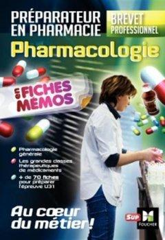 Livres Couvertures de Pharmacologie - BP préparateur en Pharmacie