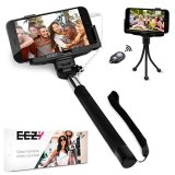 EEZ-Y-Wired-Selfie-Stick-Bundle-w-Flexible-Tripod-Bluetooth-Remote-Two-Adjustable-Phone-Holders-Awesome-Photography-Tools-for-iPhone-Samsung-Sony-LG-Nexus-Devices-Best-Value-Bundle
