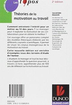 Livres Couvertures de Théories de la motivation au travail - 2ème édition