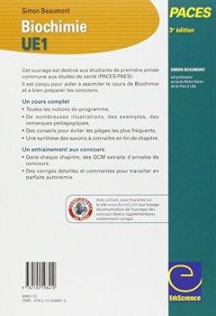 Livres Couvertures de Biochimie-UE1 PACES - 3e éd.: Manuel, cours + QCM corrigés