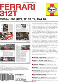 Livres Couvertures de Haynes Ferrari 312T 1975 to 1980 (312T, T2, T3, T4, T5 & T6) Owners' Workshop Manual: 1975 to 1980 - 312t, T2, T3, T4, T5 & T6