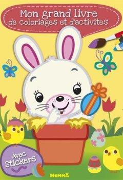 Livres Couvertures de Mon grand livre de coloriages et d'activités (Pâques)