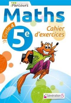 Livres Couvertures de Cahier d'exercices iParcours maths 5e