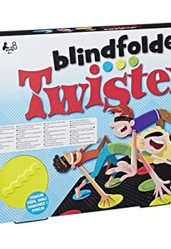 Livres Couvertures de Hasbro gaming Twister Blindfolded Jeu de Société, E1888, Multicolore