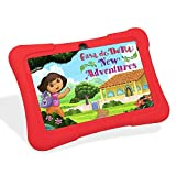 """Dragon Touch 7"""" Quad Core Android Kids Tablet, with Wifi and Camera and Games, HD Kids Edition w/ Zoodles Pre-Installed (2015 New Model, Y88X with Red Silicone Case)"""