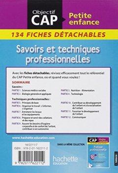 Livres Couvertures de Fiches CAP Petite enfance Savoirs et techniques professionnelles