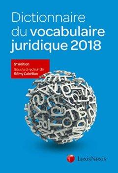 Livres Couvertures de Dictionnaire du vocabulaire juridique 2018