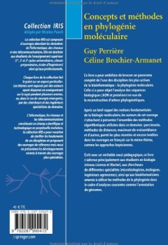 Livres Couvertures de Concepts et méthodes en phylogénie moléculaire