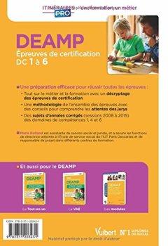 Livres Couvertures de DEAMP - Épreuves de certification DC 1 à 6 - Annales corrigées - Diplôme d'État d'Aide médico-psychologique - Session 2016