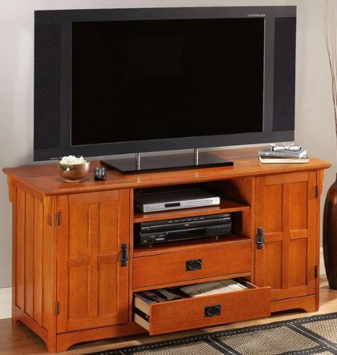 Image of Craftsman Tall Wide screen Tv Stand (B004CSWUV8)