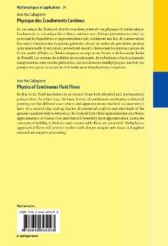 Livres Couvertures de Physique des Écoulements Continus
