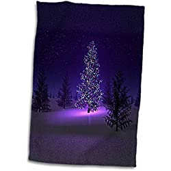 Florene Christmas - Lets Have A Purple Christmas - 11x17 Towel (twl_80492_1)