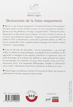 Livres Couvertures de Dictionnaire de la franc-maçonnerie