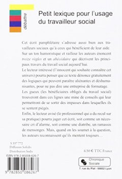 Livres Couvertures de Petit lexique pour l'usage du travailleur social : Conseils aux travailleurs sociaux et aux bénéficiaires du travail social
