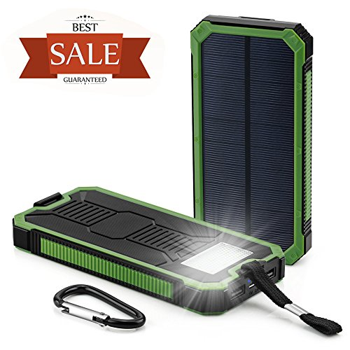Solar-Cell-Phone-Charger-Grandbeing-15000mAh-Solar-Power-Bank-Portable-Dual-USB-Outdoor-External-Battery-Pack-for-iPhone-Samsung-HTC-Nexus-Smartphone-Gopro-Camera-GPS-and-Tablets-Green