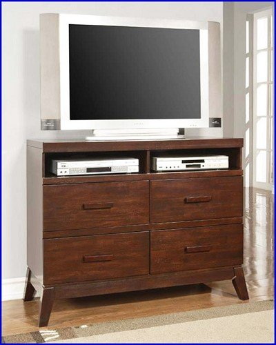 Image of Brown Cherry TV Stand Console (ACME11208)