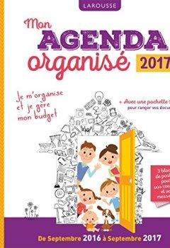 Livres Couvertures de Mon agenda organisé 2017