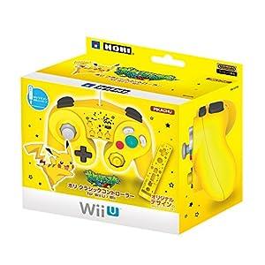 【Wii U/Wii対応】ホリ クラシックコントローラー for Wii U ピカチュウ (特典 Wiiリモコンシート(ピカチュウ) 同梱)