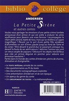 Livres Couvertures de La petite sirène et autres contes
