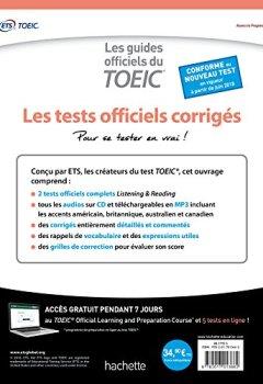 Livres Couvertures de TOEIC ® : les tests officiels corrigés