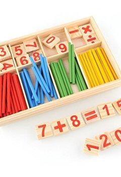 Livres Couvertures de hibote 52 broches en bois nombre bâtons mathématiques matériel éducatif pour enfant enfant