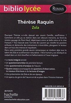 Livres Couvertures de BiblioLycée - Thérèse Raquin (Zola)