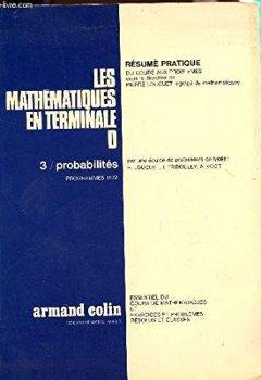 Livres Couvertures de Les mathematiques en terminale d, 3. probabilites, programmes 1972