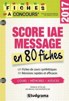Livres Couvertures de Score IAE en 80 fiches
