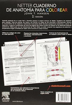 Portada del libro deNetter. Cuaderno De Anatomía Para Colorear - 2ª Edición (+ StudentConsult)
