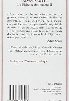 Livres Couvertures de La Richesse des nations. Tome II