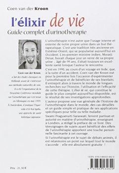 Livres Couvertures de L'élixir de vie : Guide complet de l'urinothérapie