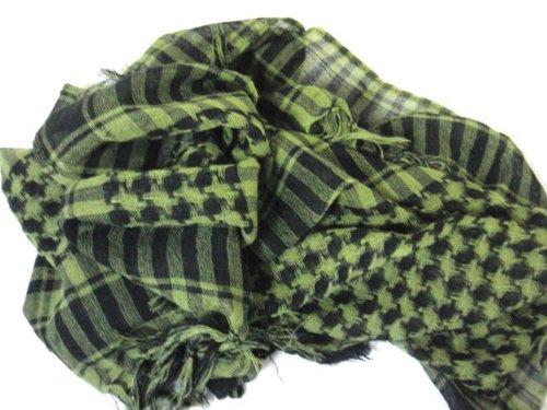 アフガンストール アラブストール シュマーグ アラブスカーフ グリーン 迷彩色