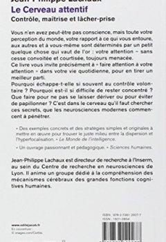 Livres Couvertures de Le Cerveau attentif: Contrôle, maîtrise et lâcher-prise