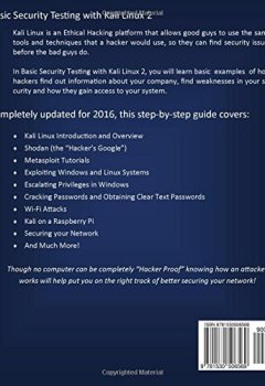 Livres Couvertures de Basic Security Testing with Kali Linux 2