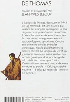 Livres Couvertures de L'Évangile de Thomas