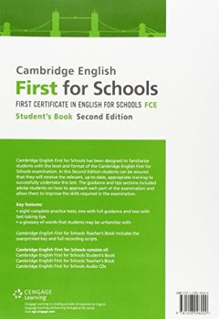 Livres Couvertures de Cambridge English First for Schools Student's Book