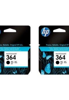 Livres Couvertures de HP Lot de 2 cartouches d'encre n°364 Noir