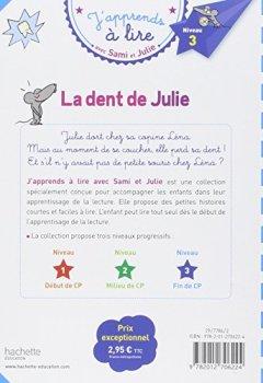 Livres Couvertures de Sami et Julie CP Niveau 3 La dent de Julie