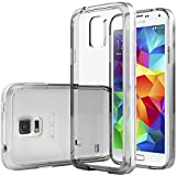Galaxy S5 case, Caseology® [Clear back Bumper] [Clear] DIY Customization Fusion Hybrid Cover [Shock Absorbent] Samsung Galaxy S5 case