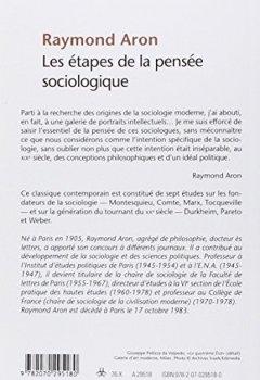 Livres Couvertures de Les étapes de la pensée sociologique