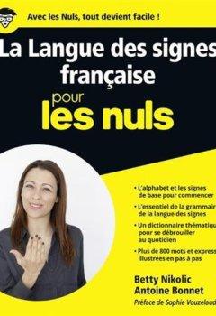 Livres Couvertures de La Langue des signes française pour les Nuls grand format