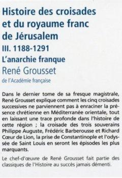 Livres Couvertures de Histoire des croisades (3)