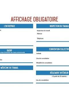 Livres Couvertures de Affichage entreprise obligatoire 2017 Format A4 - 4 Pages - Design épuré