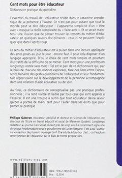 Livres Couvertures de Cent mots pour être éducateur : Dictionnaire pratique du quotidien