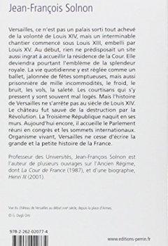 Livres Couvertures de Histoire de Versailles