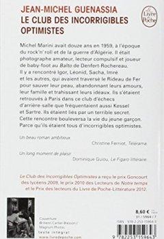 Livres Couvertures de Le club des incorrigibles optimistes - Prix Goncourt des lycéens 2009