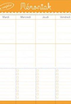 Livres Couvertures de Bloc de menus à compléter Mémoniak 2017