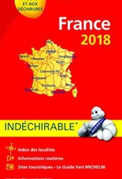Livres Couvertures de Carte France Indéchirable Michelin 2018