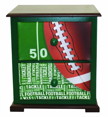 Image of Newco Nightstand, Kids Football 50 Yard Line (B009S59QRG)